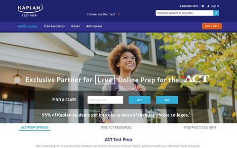 Kaplan ACT Prep | Kaplan Test Prep