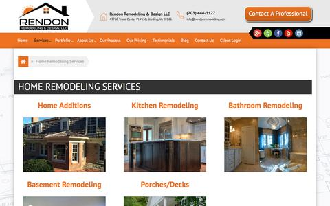 Screenshot of Services Page rendonremodeling.com - Services - Rendon Remodeling & Design LLC - captured Nov. 9, 2017