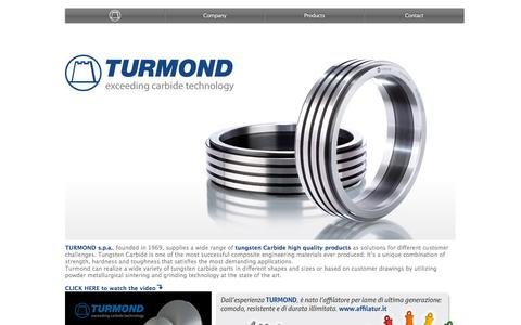 Screenshot of Home Page turmond.it - Turmond tungsten carbide - captured Jan. 12, 2016