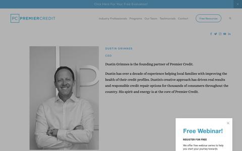 Screenshot of Team Page premiercredco.com - Premier Credit Team — Premier Credit Consulting - captured Sept. 29, 2018