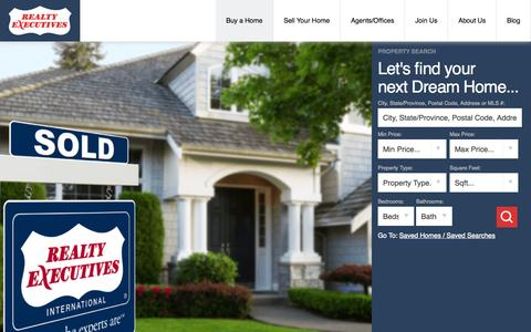 Screenshot of Home Page realtyexecutives.com - Realty Executives | Buy or Sell Your Home With Us - captured Aug. 5, 2015