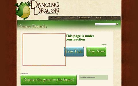 Screenshot of About Page FAQ Page Terms Page dancingdragongames.com - Coming Soon | dancingdragongames.com - captured Oct. 23, 2014