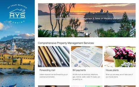 Screenshot of Services Page ays-madeira.com - Comprehensive Property Management Services - Madeira Holiday Rentals - Property Management & Sales - captured May 29, 2017