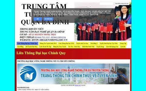 Screenshot of Home Page helienthong.edu.vn - Danh Sách Các Trường Đại Học Tuyển Sinh Liên Thông 2018 - captured Nov. 27, 2018