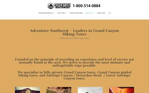 Screenshot of About Page adventuresouthwest.com - Grand Canyon Hiking Tours - Adventure Southwest - About - captured Dec. 24, 2015