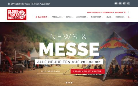 Screenshot of Home Page offroadtrucks-austria.com - Das OTA Globetrotter-Rodeo | 25. bis 27. August 2017 - captured April 4, 2017