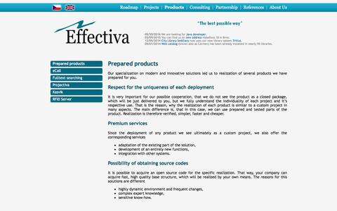 Screenshot of Products Page effectiva.cz - Prepared products - captured Sept. 25, 2016