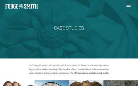 Screenshot of Case Studies Page forgeandsmith.com - Web Case Studies - Forge and Smith | Vancouver Web Design Company - captured Sept. 25, 2014