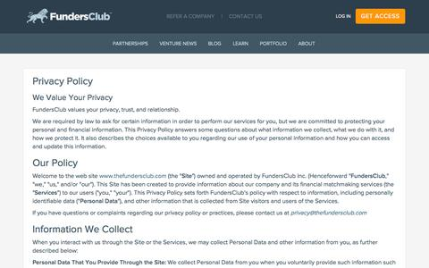 Privacy Policy | FundersClub