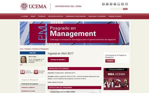 Screenshot of Team Page ucema.edu.ar - Posgrado en Management | UCEMA - captured Dec. 2, 2016