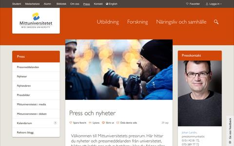 Screenshot of Press Page miun.se - Press - captured Nov. 20, 2016