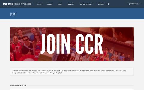 Screenshot of Signup Page collegegop.org - Join   California College Republicans - captured Nov. 1, 2014