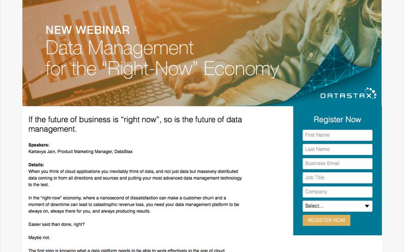 "Webinar: Data Management for the ""Right-Now"" Economy: The 5 Key Ingredients"