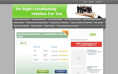 Screenshot of Services Page crowdfunding-website-reviews.com - Misc. Services   Crowdfunding Website Reviews - captured Nov. 25, 2015