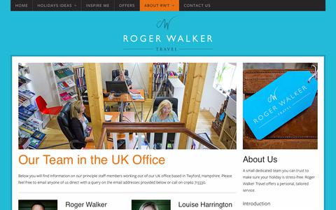 Screenshot of Team Page rogerwalkertravel.com - Our Team | Roger Walker Travel - captured Jan. 25, 2018