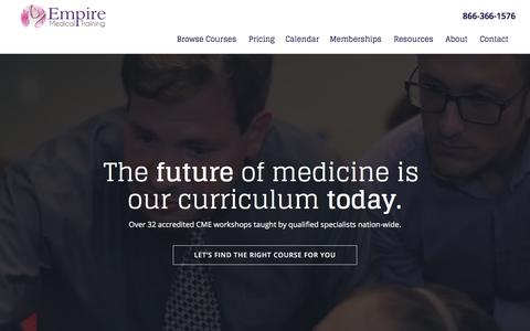 Screenshot of Home Page empiremedicaltraining.com - Medical Training and Workshops for Physicians and Nurses | Botox Training - captured Dec. 20, 2017