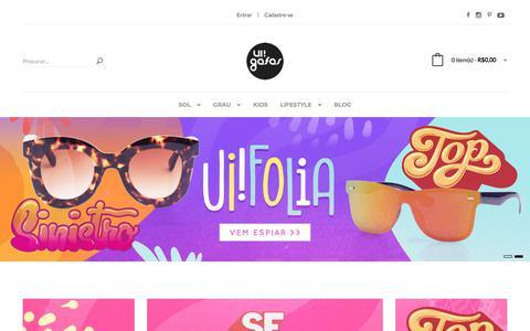 Screenshot of Home Page uigafas.com.br - UI! Gafas - captured Feb. 4, 2018