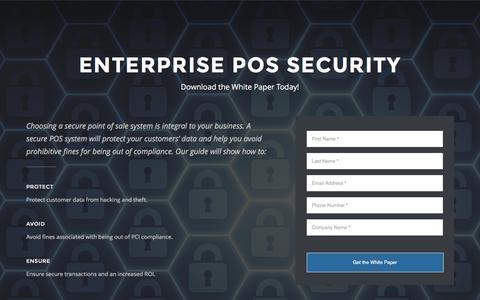 Screenshot of Landing Page revelsystems.com captured March 22, 2016