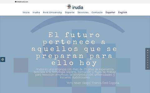 Screenshot of Home Page irudia.com - Irudia - captured Sept. 20, 2018