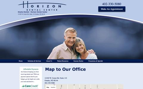 Screenshot of Maps & Directions Page horizondentalcenter.com - Map to Our Office   Horizon Dental Center - captured July 16, 2016