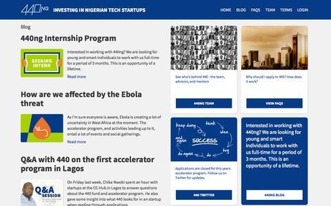 Screenshot of Blog 440.ng - Blog | 440 - captured Sept. 23, 2014