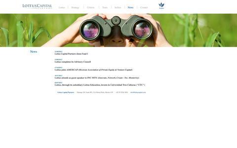 Screenshot of Press Page lottuscapital.com - Lottus Capital Partners - captured Nov. 13, 2016