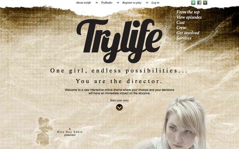Screenshot of Home Page trylife.tv - TryLife - captured Sept. 17, 2014