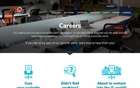 Screenshot of Jobs Page wso2.com - Careers - captured Jan. 17, 2018