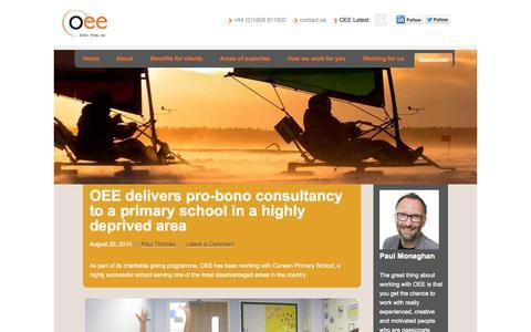 Screenshot of Press Page oeeuk.com - News - OEE - captured Oct. 6, 2014