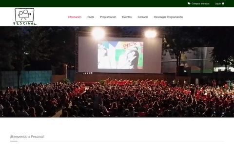 Screenshot of Home Page fescinal.es - Cine de Verano Madrid || Fescinal - captured Jan. 20, 2016