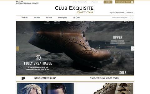 Screenshot of Home Page club-exquisite.net - Club Exquisite - captured Sept. 29, 2014