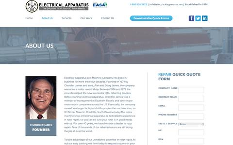 Screenshot of About Page electricalapparatus.net - About us - Electrical Apparatus - captured Nov. 3, 2016