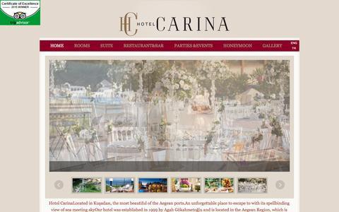 Screenshot of Home Page hotelcarina.com.tr - Hotel Carina - captured May 25, 2016