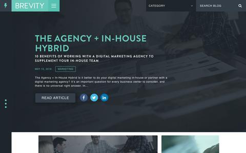 Screenshot of Blog seekbrevity.com - Blog - Brevity Digital Design & Branding - captured Nov. 9, 2018