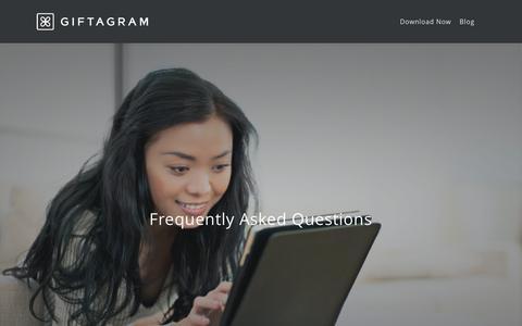 Screenshot of FAQ Page giftagram.com - FAQ |  Giftagram - captured July 21, 2015