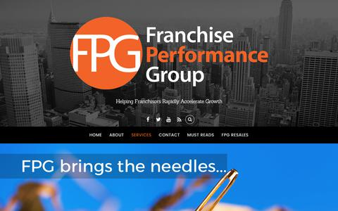 Screenshot of Services Page franchiseperformancegroup.com - Franchise Lead Generation - Franchise Performance Group - captured June 6, 2017