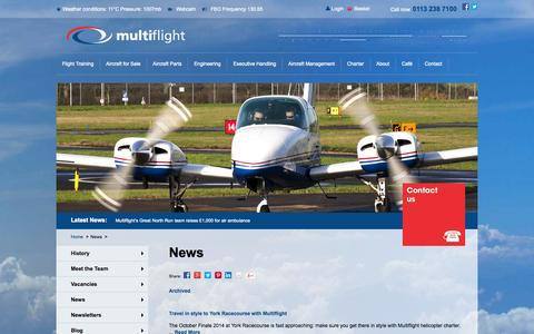 Screenshot of Press Page multiflight.com - Multiflight News | Multiflight - captured Oct. 10, 2014