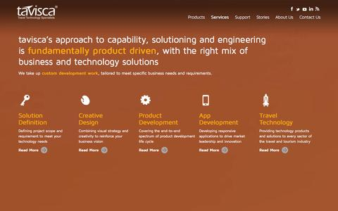 Screenshot of Services Page tavisca.com - Services   tavisca - captured Sept. 23, 2014