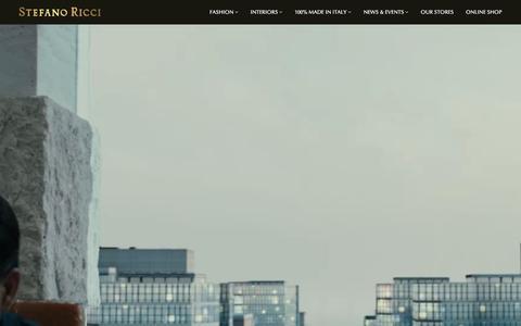 Screenshot of Home Page stefanoricci.com - Stefano Ricci | Luxury Lifestyle - captured Feb. 25, 2016