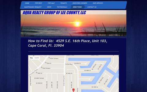Screenshot of Maps & Directions Page aquarealtygroup.com - Aqua Realty Group LLC - Directions - captured Dec. 26, 2015