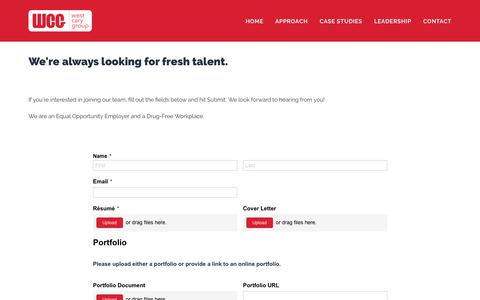 Screenshot of Jobs Page westcarygroup.com - Careers - West Cary Group - captured Oct. 14, 2019