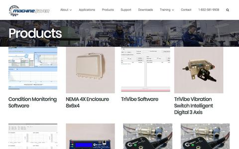 Screenshot of Products Page machinesaver.com - Products | Machine Saver | Machine Protection - captured Oct. 3, 2017