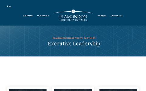 Screenshot of Team Page plamondonhospitalitypartners.com - Our Team - Plamondon Hospitality Partners - captured July 19, 2018