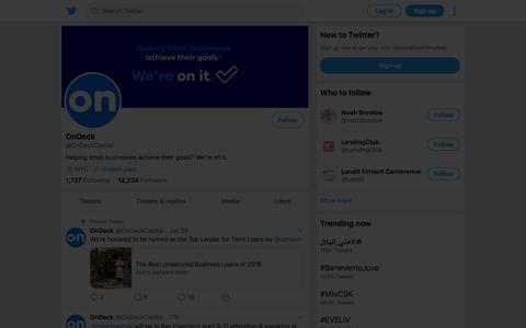 Tweets by OnDeck (@OnDeckCapital) – Twitter