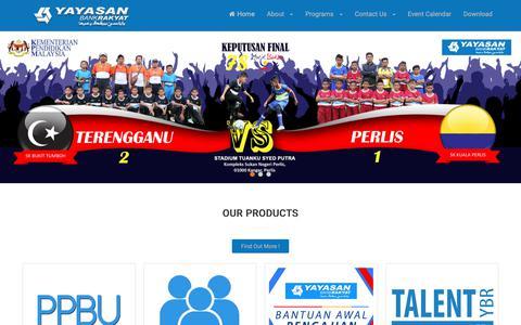Screenshot of Home Page yayasanbankrakyat.com.my - Yayasan Bank Rakyat - Yayasan Bank Rakyat Malaysia - captured Oct. 16, 2018