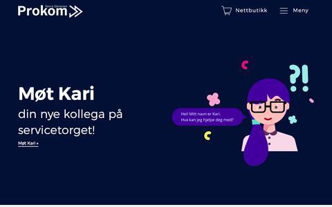 Screenshot of Home Page prokom.no captured Oct. 25, 2017