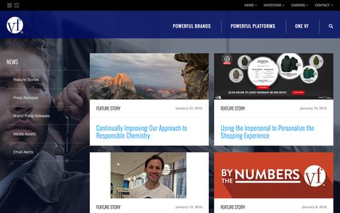 Screenshot of Press Page vfc.com - News :: VF Corporation (VFC) - captured Jan. 25, 2016