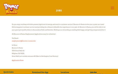 Screenshot of Jobs Page bounce-a-rama.com - Jobs   Bounce-a-Rama - captured Oct. 6, 2018