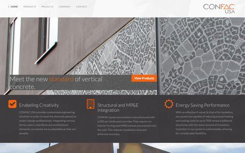 Screenshot of Home Page confacusa.com - Home | Confac USA - captured Oct. 1, 2014