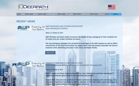 Screenshot of Press Page deerpathholdings.com - NEWS l DEERPATH HOLDINGS l PRIVATE EQUITY  l LAKE FOREST - captured June 4, 2017